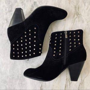 JESSICA SIMPSON Odette Studded Black Suede Boots